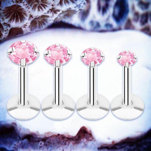 Sparkle Labret StudRose Cristal Cartilage Anneau Barres Tragus Barre Hélix Piercing