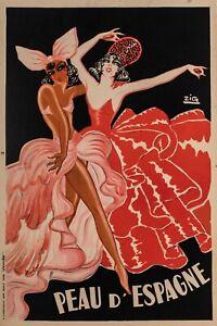 Original-Poster-Zig-Peau-d-039-Espagne-Josephine-Baker-Mistinguette-1934