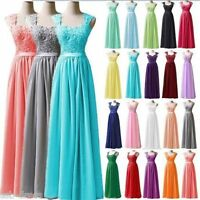 New Chiffon Evening Ball Gown Party Prom Bridesmaid Dresses Stock Size 6-22