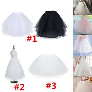 Kid-Petticoat-Underskirt-Wedding-Bridal-Crinoline-Slip-Vintage-Flower-Girl-Dress