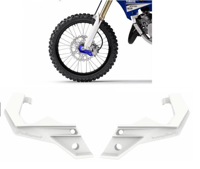 POLISPORT PAIRE PROTECTIONS PIEDS FORCELLE BIANCO HUSQVARNA 250 FC 2014