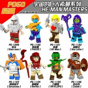 Bausteine-Figur-Anime-He-Man-the-Masters-Universe-Rattlor-Ske-Letor-Toys-8PCS