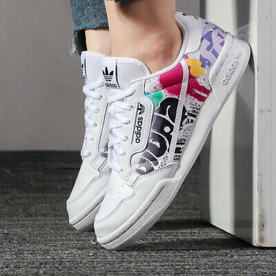 adidas Originals Continental 80 Junior Trainers Boys Girls White SIZE 3 4 5 5.5 | eBay
