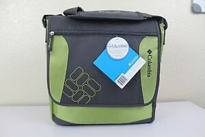 nwt columbia timeless travel diaper bag with thermal bottle chamber charcoal ebay. Black Bedroom Furniture Sets. Home Design Ideas