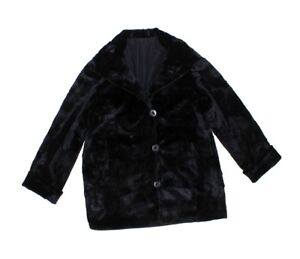 813450-New-Plus-Black-Sheared-Mink-Fur-Sections-Reversible-Stroller-Coat-2XL