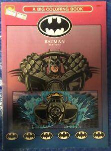 BATMAN RETURNS BIG COLORING BOOK 2998-1 1992 GOLDEN NEW   eBay