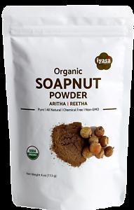 Organic-Soapnut-Powder-Aritha-Reetha-4-8-oz-Natural-Hair-Skin-Cleanser