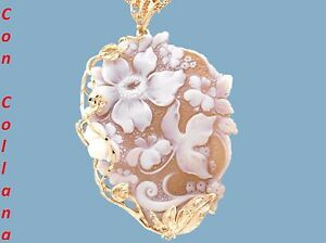 Ciondolo-cammeo-argento-925-rose-cameo-sardonico-artigianato-Torre-del-Greco