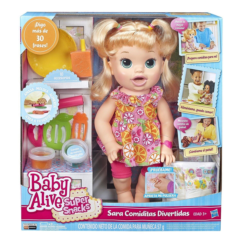 Baby Alive Súper bocadillos Snackin Sara rubia  nuevo