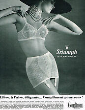 PUBLICITE ADVERTISING 014   1965   TRIUMPH   soutien gorge COMPLIMENT