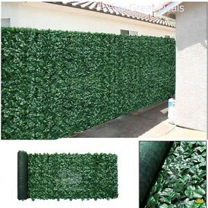 Artificial Privacy Fence Roll Screen Faux Ivy Mesh