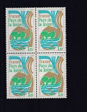 FRANCE  1975  S G  2088   1F   15      VALUE  BLOCK OF 4  MNH  NO F469