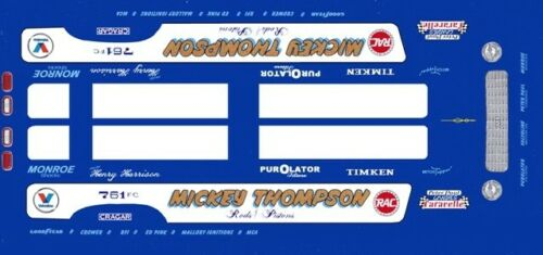 Mickey Thompson Pistons & Rods Mustang Funny Car 1/32nd Scale Slot Car Decals