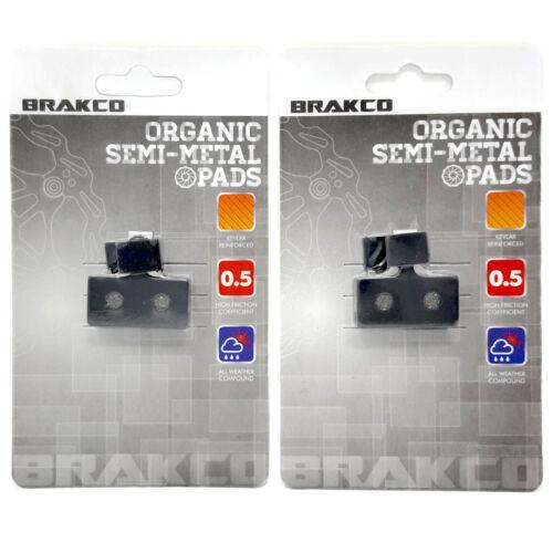 BRAKCO Organic Disc Brake Pads Shimano XTR BR-M985 BR-M785 BR-M666