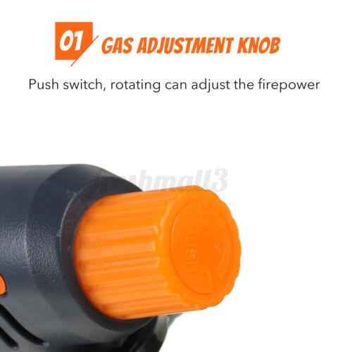 Chief Camping Gas Torch Welding Lighter Butane Burner Flame Gun Head For BBQ