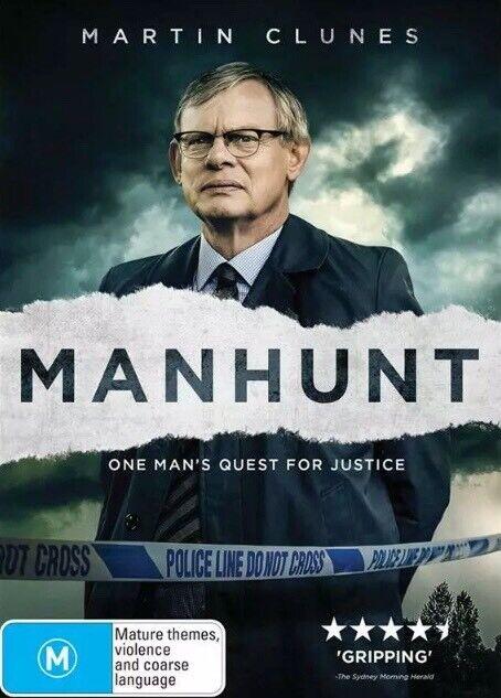 NEW & SEALED Manhunt : Season Series 1 DVD Aus Region 4 Martin Clunes