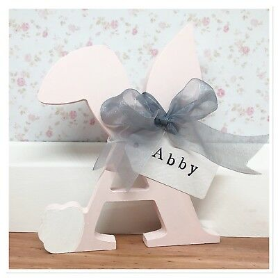 ❤ Painted decorated personalised letters Freestanding wooden initial 10cm-30cm ❤