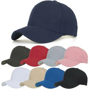 Unisex-Donne-Uomini-Cotone-Alta-Qualita-Cappelli-Da-Baseball-Regolabili