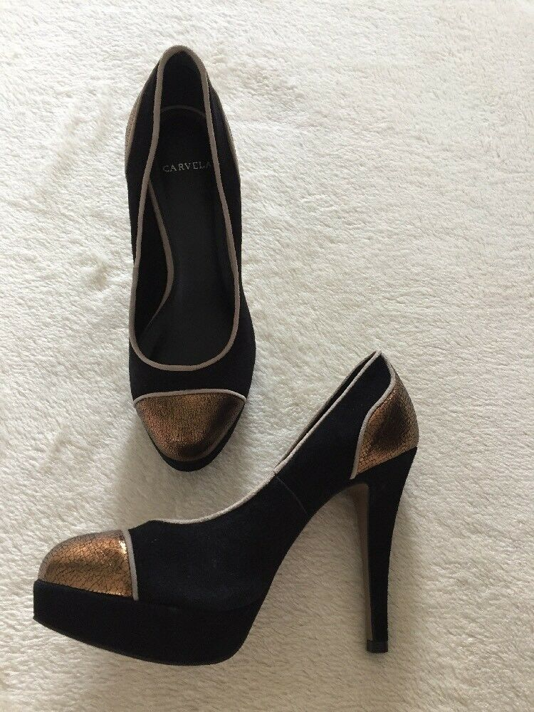 CARVELA black   Bronze Suede High Heel shoes Size 5 (38) VGC
