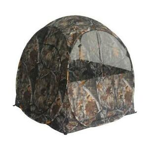 Pop-up Ground Portable Camouflage Hunting Blind 60x60x67 w/ Backpack 1-2 Person