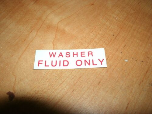 1973 1974 1975 LINCOLN CONTINENTAL TOWN CAR WINDSHIELD WASHER FLUID ONLY DECAL