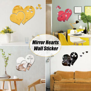 3D-Mirror-Love-Hearts-Wall-Sticker-Decal-DIY-Home-Room-Art-Mural-Decor-Removable