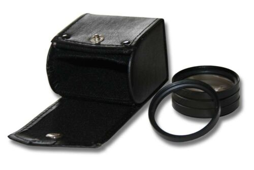 Close-Up Lens Macrofilter Set Ø 77mm metal black +1 +2 +4 +10 dioptres