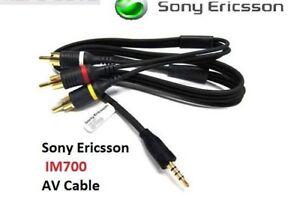Veritable-Sony-Ericsson-IM700-3-5mm-TV-Cable-Video-Pour-Vivaz-Xperia-X1-X2