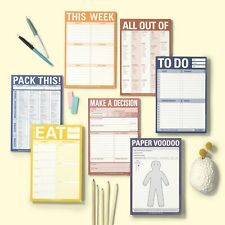 Knock Knock Organization Pads  Express Yourself! Get Stuff Done!  Buy 2 & SAVE!