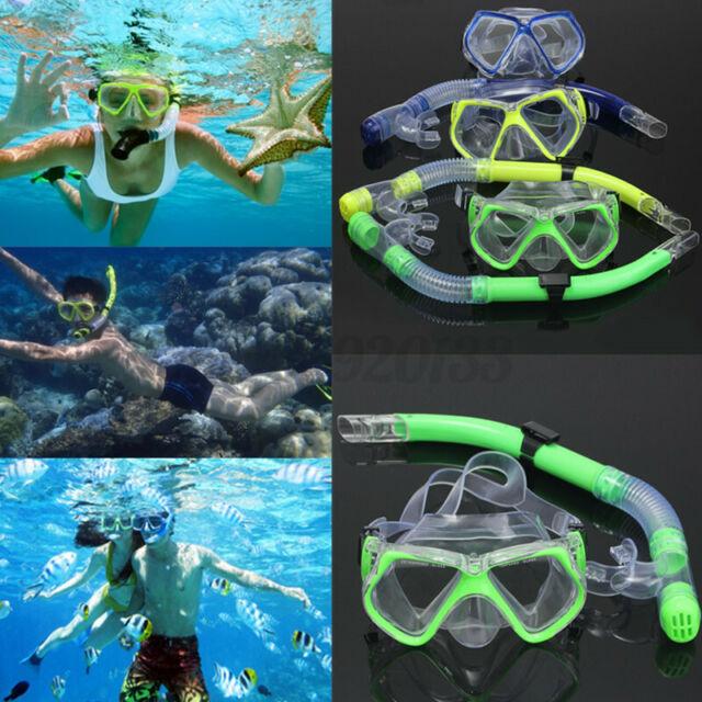 Adult Scuba Diving Snorkel Set Dive Mask Water Goggles Snorkeling Swimming AU