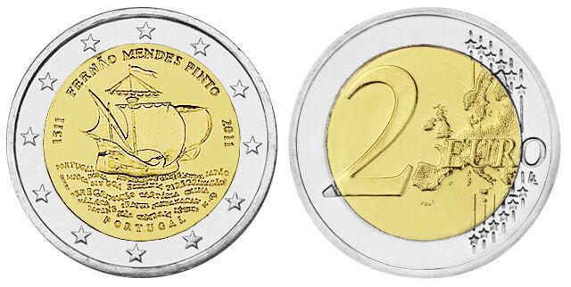 PORTUGAL 2 EURO FERNAO MENDES PINTO 2011 bankfrisch