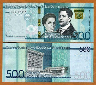 DOMINICAN REPUBLIC 500 Pesos Dominicanos 2017 Commemorative Pick New 20 UNC