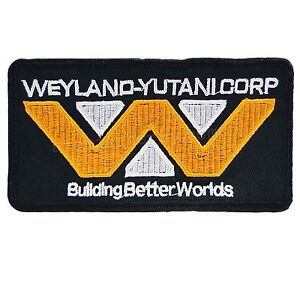Image is loading Weyland-Corp-Iron-On-Patch-Alien-Movie-Film-  sc 1 st  eBay & Weyland Corp Iron On Patch Alien Movie Film Cosplay Costume Sci Fi ...