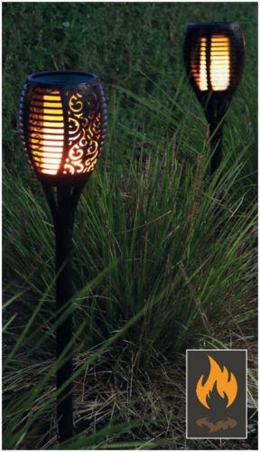 2er-Pack Solar Fackel Garten Solar wasserdichte flackernde Flammen Deko-Beleucht