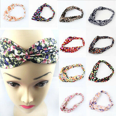 Women 25Styles Elastic Turban Head Headband Knotted Accessory Twisted Hair Band