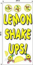 2 X 4 Vinyl Banner Lemon Shake Ups Lemonade Drink V