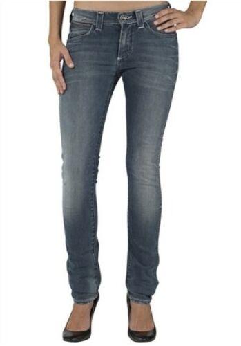 Wrangler Stokes Slim Fit Jeans W27-W29 L32 NEU Damen Hose Blau Used Frost Denim