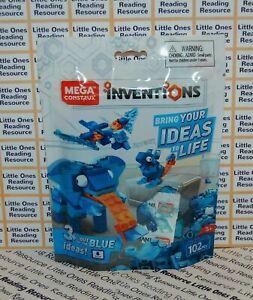 Mega-Construx-Inventions-BLUE-BRICK-BUILDING-SET-FWP20-102-Pieces
