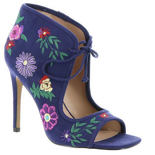 edizione limitata Betsey Betsey Betsey Johnson Caira Embroidered Floral Navy blu Peep-Toe avvioies High Heel NEW  distribuzione globale