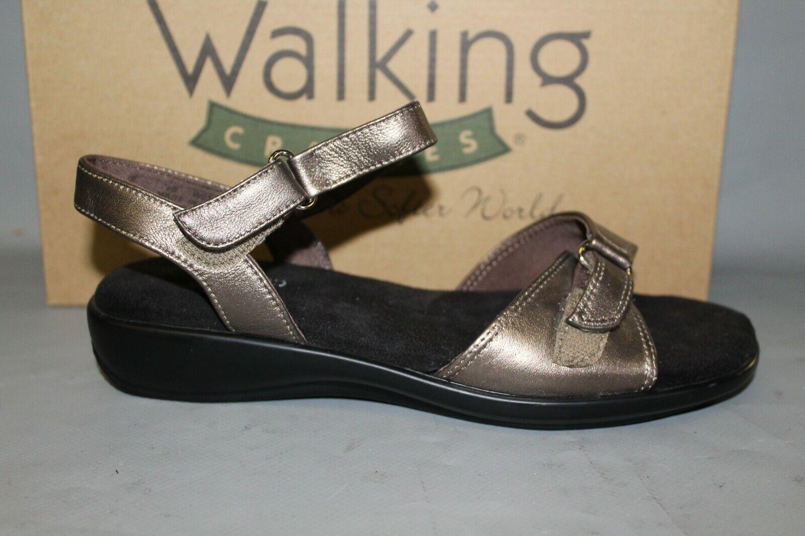 NEW Women's Walking Cradle Sky 2 Size 8.5 B Bronze Leather Comfortable Sandals