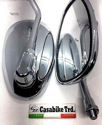 2 x Rückspiegel Verchromt Spiegel Roller Motorroller Retro Benzhou Nova