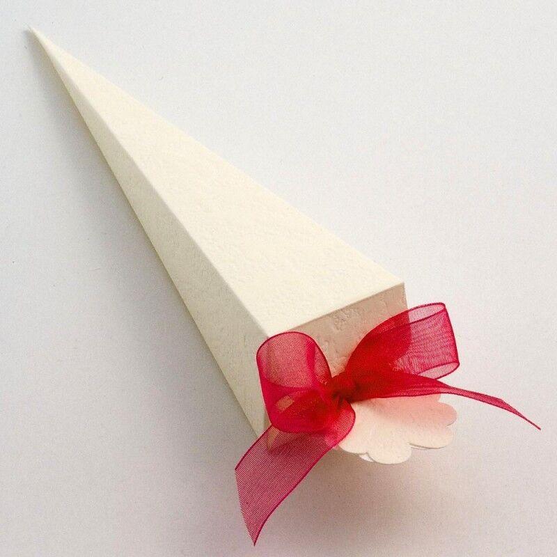 100 100 100 Ivory Sorgente Cone shape Wedding   Christening Favour Boxes 5f7f5e