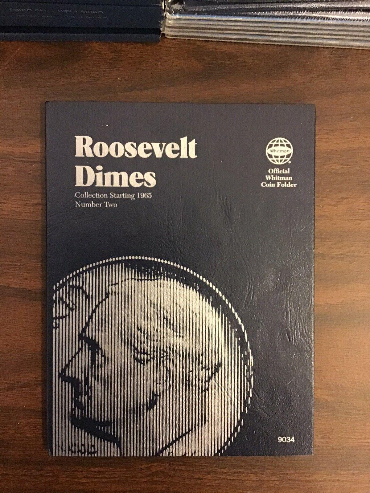 Whitman Coin Album Folder 9034  New Roosevelt Dimes 1965----Pack of 6