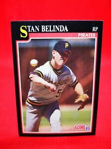 Score 1991 carte card Baseball MLB US NM+/M Pittsburgh Pirates #296 Stan Belinda