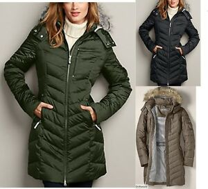 NWT Eddie Bauer Womens Sun Valley Down Parka Coat 650 FP 3 Colors ...