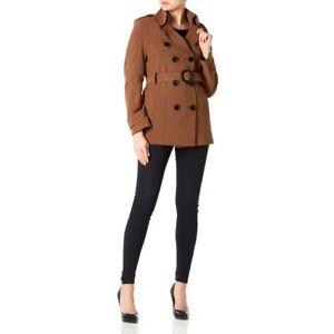 Creme esaurito La Womens Belted Tie De black Coat Brown Spring Trench UTq5Cxxwv