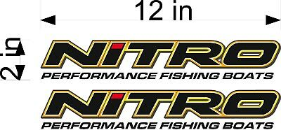 "NITRO Boats Logo SINGLE 36/"" Vinyl Vehicle Watercraft Graphic Decal Sticker"