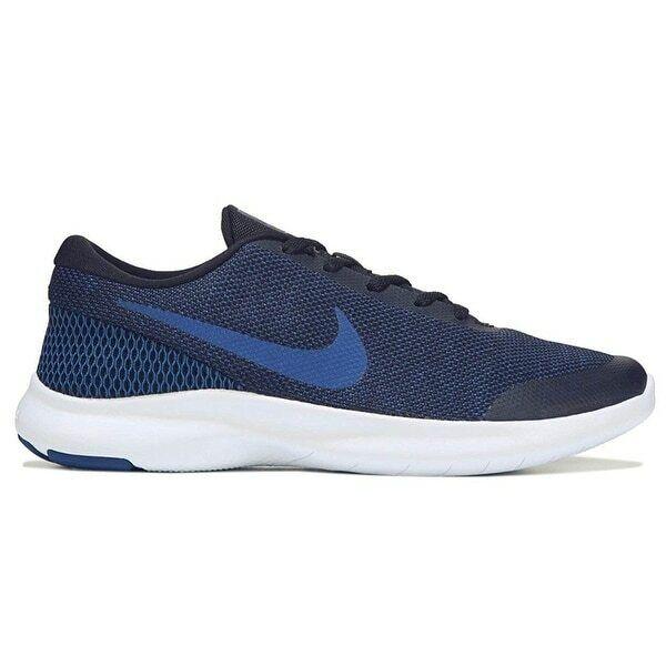 Nike Flex Experience RN 7 WIDE 4E AA7405-003 bluee Black Wht Men's Running shoes