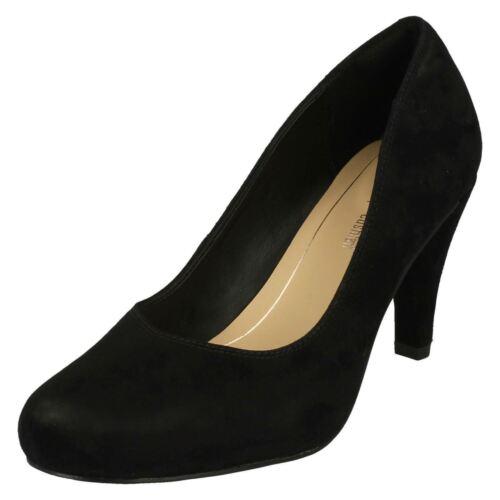 Clarks Zapatos Charol Negro O Elegante Rosa Ante Salón Dslis Mujer De 7wfUf