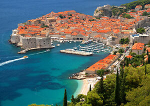 CROATIA-DUBROVNIK-NEW-A3-CANVAS-GICLEE-ART-PRINT-POSTER
